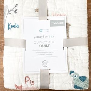 Pottery Barn Kids Quincy ABC Toddler Quilt NWT